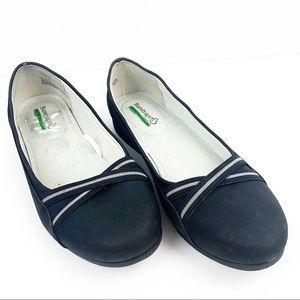 BareTraps Memory Foam Black Flat Wide Shoes
